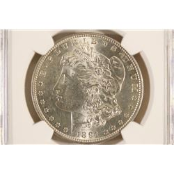 1891-S MORGAN SILVER DOLLAR NGC MS60