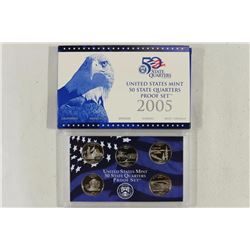 2005 US 50 STATE QUARTERS PROOF SET WITH BOX