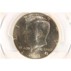 1986-D KENNEDY HALF  DOLLAR PCGS MS65