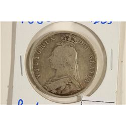 1888 GREAT BRITAIN SILVER HALF CROWN .4205 OZ. ASW