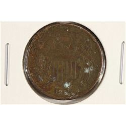 1864 US TWO CENT PIECE FINE