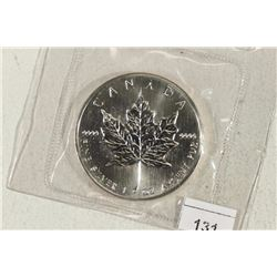 1989 CANADA SILVER $5 MAPLE LEAF 1 OZ. SILVER