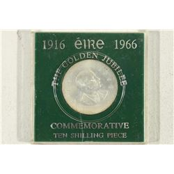 1966 IRELAND SILVER COMMEMORATIVE 10 SHILLING