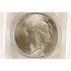 1925 PEACE SILVER DOLLAR PCGS MS63