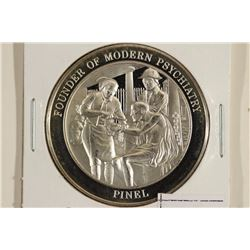 """27.3 GRAM STERLING SILVER PROOF ROUND """"PINEL"""""""