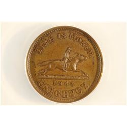 CIVIL WAR STORE CARD NY-NYC TOKEN HUSSEYS