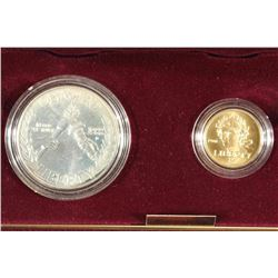 GOLD & SILVER 1988 US OLYMPIC 2 COIN UNC SET