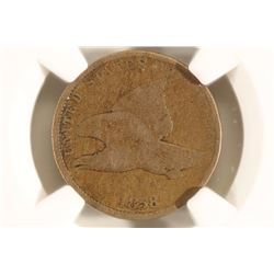 1858 SMALL LETTER FLYING EAGLE CENT NGC MINT