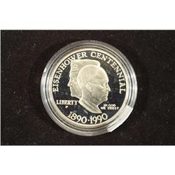 1990-P EISENHOWER CENTENNIAL PROOF SILVER DOLLAR