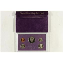 1987 US PROOF SET (WITH BOX)