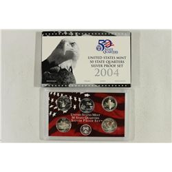 2004 SILVER US 50 STATE QUARTERS PROOF SET