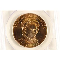 2007 MARTHA WASHINGTON BRONZE MEDAL PCGS MS69