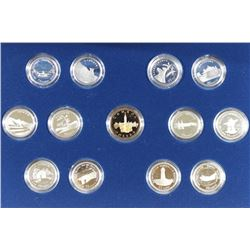 1992 CANADA 125 SET CONTAINS: 12 SILVER PROOF