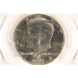 1978 KENNEDY HALF DOLLAR PCGS MS66