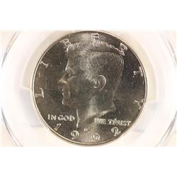 1992-D KENNEDY HALF DOLLAR PCGS MS65