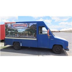 "90 Aeroma Van,105.5""L, 71.5""W, 71.5""H, w/Cabinets, Has Title, Reg Expired Nov. 2016"