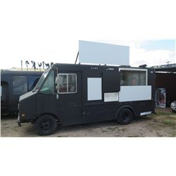 "95 Chevy Van, 98""L, 74""W, 74""H w/Griddles, Refrigerators, Range, Has Title, Reg. Exp 4/2018, No Key"