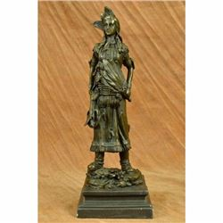 Native American Indian Woman LostWax Bronze Statue