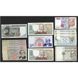 Bank of Italy. 1966 -90 Issues.