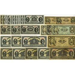 Mexican Revolutionary Scrip Note Assortment, ca. 1914-16.