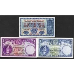 Scotland Banknote Trio, ca.1947 to 1956 Issues.