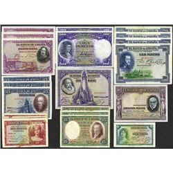 Banco de Espana. 1925-35 dated issues.