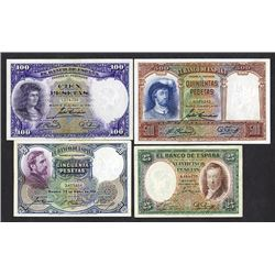 Banco de Espana. 1931 Issues.