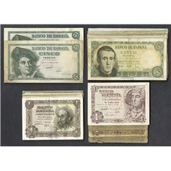 Banco de Espana. 1948, 1951 dated issues.