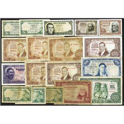 Banco de Espana. 1951-57 Issues.