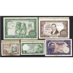 Banco de Espana. 1953-57 dated issues.