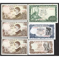 Banco de Espana. 1965-71 Issues.