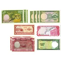 National Bank of Viet Nam, 1950s-1970s, Dozen of Issued Notes