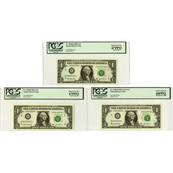 Federal Reserve Note, 2003, Lot of 3 Error Notes