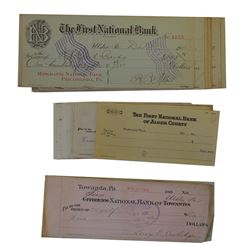 Lot of Bank Checks ca.1900-1950
