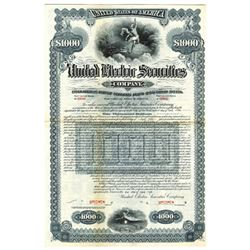 United Electric Securities Co., 1926 Specimen Bond