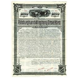Pittsburgh and Allegheny Drove Yard Co., 1885 Specimen Bond