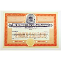 Northeastern Tile and Trust Co., ca.1930-1940 Specimen Stock Certificate