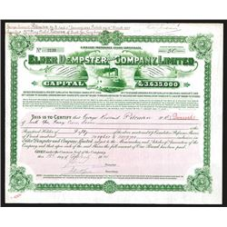 Elder Dempster and Company, Limited, 1914 Issued Share Certificates.