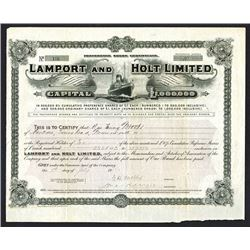 Lamport and Holt Limited1912 Issued Share Certificate.