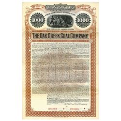 Oak Creek Coal Co., 1895 Specimen Bond