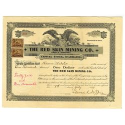 Red Skin Mining Co., 1899 Issued Stock Certificate