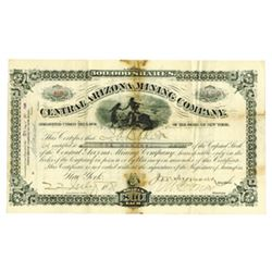 Central Arizona Mining Co., 1881 Issued Stock Certificate