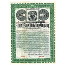 United States Finishing Co., 1904 Specimen Bond