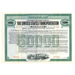 United States Transportation, 1907 Specimen Bond