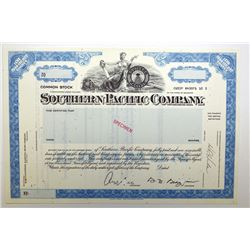 Southern Pacific Co., ca.1950-1960 Specimen Stock Certificate