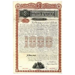 Southern Improvement Co., 1886 Specimen Bond