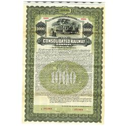 Consolidated Railway Co., 1905 Specimen Bond