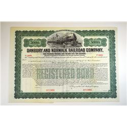 Danbury and Norwalk Railroad Co., 1905 Specimen Bond.