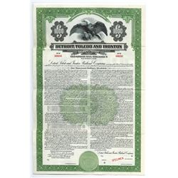 Detroit, Toledo and Ironton Railroad Co., 1946 Specimen Bond