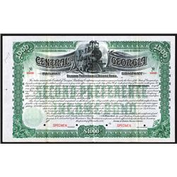 Central of Georgia Railway Co., 1895, $1000 Specimen Bond.